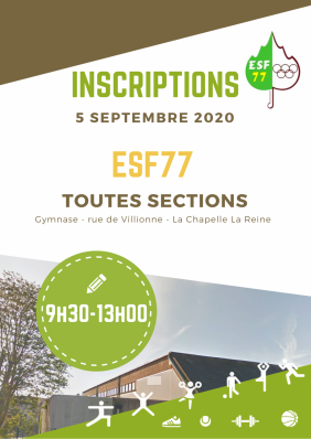 Inscriptions esf77