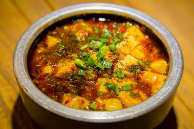 Gratin de poireaux avec tofu